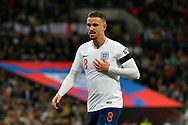 Jordan Henderson of England during the UEFA European 2020 Qualifier match between England and Czech Republic at Wembley Stadium, London, England on 22 March 2019.
