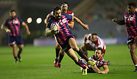 Geoffrey Doumayrou of Stade Francais runs past Greig Laidlaw of Gloucester to score a try in the Challenge Cup Final at Murrayfield Stadium, Edinburgh. Picture date: May 12th, 2017. Photo credit should read: Sportimage