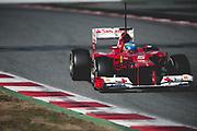 February 21, 2012: Formula One Testing, Circuit de Catalunya, Barcelona, Spain. Fernando Alonso, Ferrari F2012