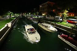 VENICE, Sept. 14, 2016 (Xinhua) -- Photo taken on Sept. 5, 2016 shows a night view of Venice Lido, Italy. (Xinhua/Gong Bing) (zjy) (Credit Image: © Gong Bing/Xinhua via ZUMA Wire)