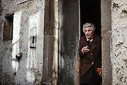Anziana in una casa del centro storico, Orsara di Puglia 3 Maggio 2014.  Christian Mantuano / OneShot