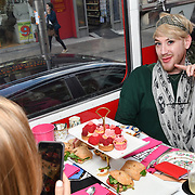 Lewis-Duncan Weedon attend Brigits Bakery host their Pink Ribbon Afternoon Tea in aid of the Pink Ribbon Foundation, London, UK. 16 October 2018.