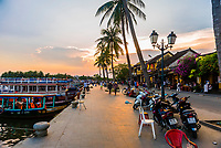 Waterfront, Old Town, Hoi An, Vietnam.