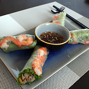 Traditional Vietnamese food at theThe Sunrise Hoi An Beach Resort, Vietnam. Hoi An is an ancient town and an exceptionally well-preserved example of a South-East Asian trading port dating from the 15th century. Hoi An is now a major tourist attraction because of its history. Hoi An, Vietnam. 5th March 2012. Photo Tim Clayton
