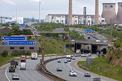 © Licensed to London News Pictures. 11/05/2020. Ferrybridge UK. Traffic on the A1 near Ferrybridge in Yorkshire appears heavier this morning than recent times after Prime Minister Boris Johnson urged people to go back to work in his address to the nation yesterday.  Photo credit: Andrew McCaren/LNP