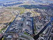 Nederland, Noord-Holland, Amsterdam; 16-04-2021; Amsterdam-West, Centrale Markt (Amsterdam Foodcentre), Jan van Galenstraat. Zicht op Bos en Lommer en Staatsliedenbuurt.<br /> Amsterdam-West, Central Market (Amsterdam Food centre), Jan van Galenstraat. View of Bos en Lommer.<br /> <br /> luchtfoto (toeslag op standard tarieven);<br /> aerial photo (additional fee required)<br /> copyright © 2021 foto/photo Siebe Swart