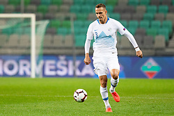 Jure Balkovec of Slovenia during football match between National Teams of Slovenia and Cyprus in Final Tournament of UEFA Nations League 2019, on October 16, 2018 in SRC Stozice, Ljubljana, Slovenia. Photo by Urban Urbanc / Sportida