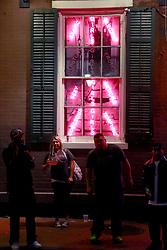 03 Feb 2013. New Orleans, Louisiana USA. .Bourbon Street. The exterior of a strip club..Photo; Charlie Varley
