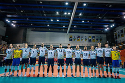 Team Sweden during the CEV Eurovolley 2021 Qualifiers between Sweden and Croatia at Topsporthall Omnisport on May 15, 2021 in Apeldoorn, Netherlands