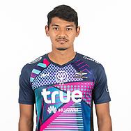 THAILAND - MARCH 06: Warut Makemusik #34 of True Bangkok United on March 06, 2019.<br /> .<br /> .<br /> .<br /> (Photo by: Naratip Golf Srisupab/SEALs Sports Images/MB Media Solutions)