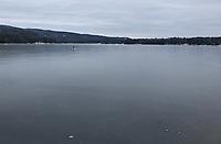 Ice Skating on Lake Newfound.  ©2020 Karen Bobotas Photographer
