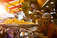 Pani puri at Elco Veg Restaurant on Hill Road in Bandra West, Mumbai, India