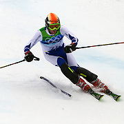 Winter Olympics, Vancouver, 2010.Marko Rudic, Bosnia and Herzegovina , in action during the Alpine Skiing, Men's Slalom at Whistler Creekside, Whistler, during the Vancouver Winter Olympics. 27th February 2010. Photo Tim Clayton
