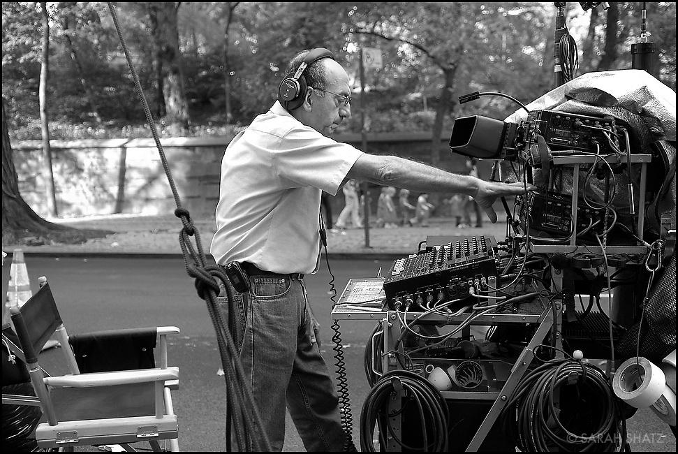 """James Sabat on the set of """"Ghost Town"""" (Dir: David Koepp, 2008)"""