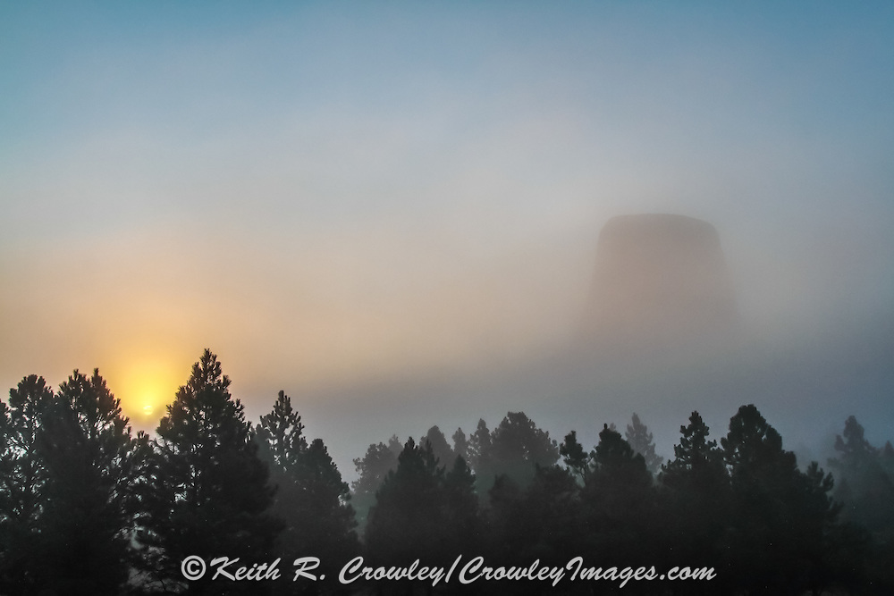 Scenic View of Devil's Tower in Wyoming