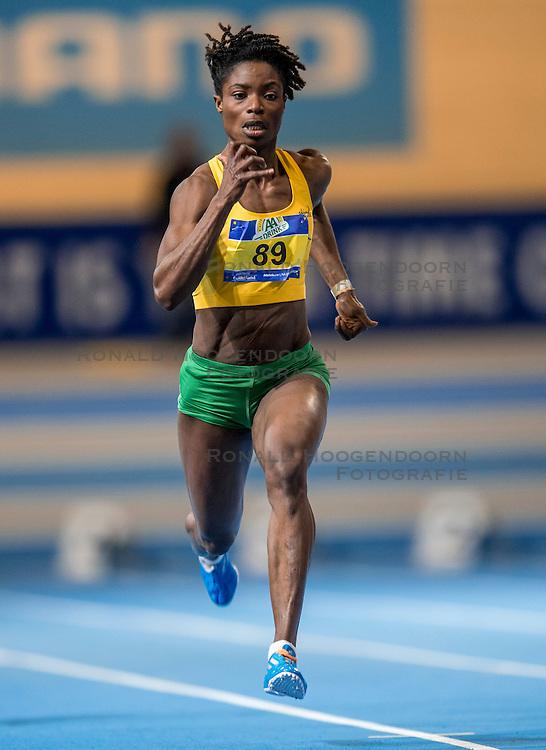 11-02-2017 NED: AA Drink NK Indoor, Apeldoorn<br /> Esther Dankwah op de 60 meter