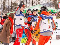 25.01.2020, Streif, Kitzbühel, AUT, FIS Weltcup Ski Alpin, im Rahmen der KitzCharityTrophy 2020 am Samstag, 25. Jänner 2020, auf der Streif in Kitzbühel. // f.l. Marcus Grausam Sonja Wallner and Thomas Arnoldner during the KitzCharityTrophy 2020 at the Streif in Kitzbühel, Austria on 2020/01/25, im Bild v.l. Marcus Grausam, Sonja Wallner, Thomas Arnoldner // f.l. Marcus Grausam Sonja Wallner and Thomas Arnoldner during the KitzCharityTrophy 2020 at the Streif in Kitzbühel, Austria on 2020/01/25. EXPA Pictures © 2020, PhotoCredit: EXPA/ Stefan Adelsberger