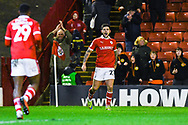 Alex Mowatt of Barnsley (27) scores a goal and celebrates to make the score 3-0 during the EFL Sky Bet League 1 match between Barnsley and Bradford City at Oakwell, Barnsley, England on 12 January 2019.