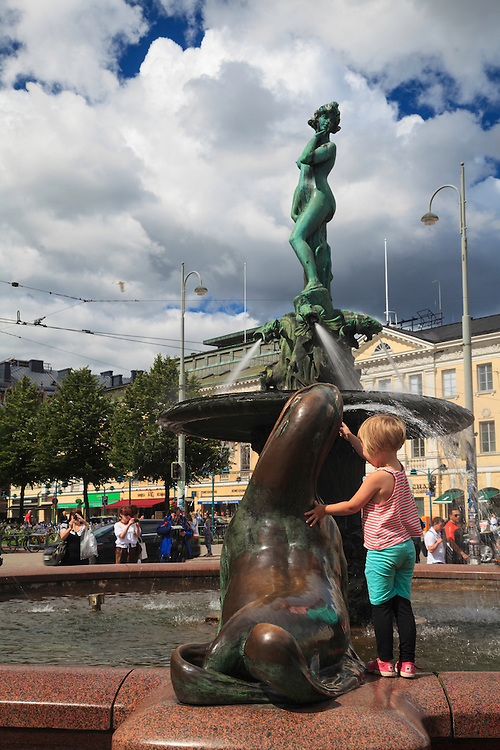 Havis Amanda is a nude female statue in Helsinki, Finland. According to sculptor Vallgren's letters the model for the statue was a then 19-year-old Parisian lady, Marcelle Delquini.