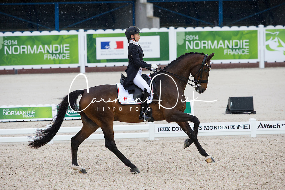 Joanne Vaughan, (GEO), Elmegardens Marquis - Grand Prix Team Competition Dressage - Alltech FEI World Equestrian Games™ 2014 - Normandy, France.<br /> © Hippo Foto Team - Leanjo de Koster<br /> 25/06/14