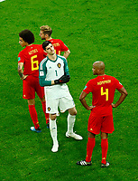 The disappointment of Alex Witsel, Dries Mertens, Thibaut Curtois and Vincent Kompany (Belgium)<br /> Saint Petersburg 10-07-2018 Football FIFA World Cup Russia  2018 Semifinal <br /> France - Belgium / Francia - Belgio <br /> Foto Matteo Ciambelli/Insidefoto