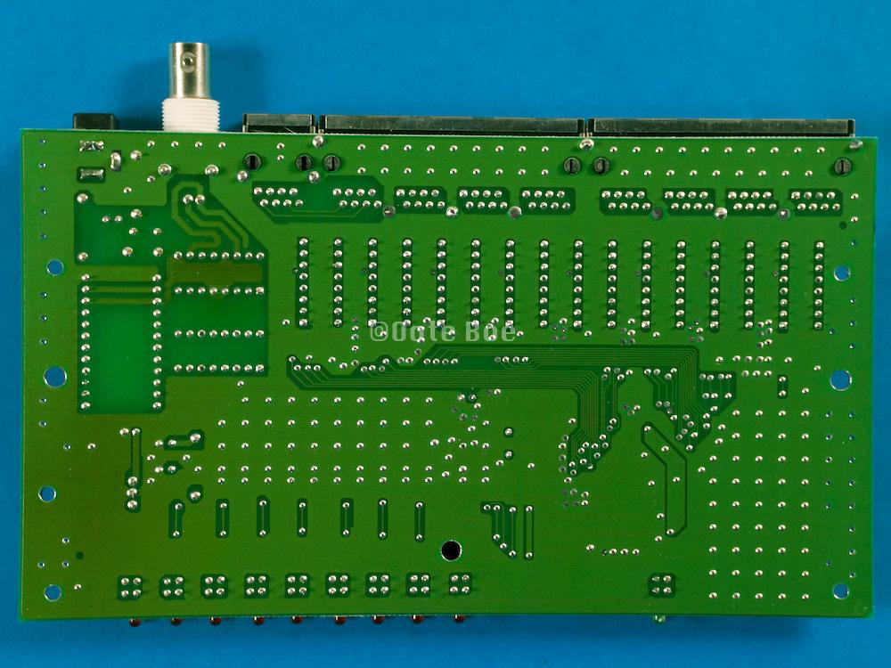still life of a circuit board