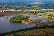 High water at Island Lake Barney creates issues in rural Dane County, Wisconsin.