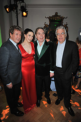 Left to right, MICHAEL CRAWFORD, DANIELLE HOPE, ANDREW LLOYD WEBBER and BILL KENWRIGHT at the press night of the new Andrew Lloyd Webber  musical 'The Wizard of Oz' at The London Palladium, Argylle Street, London on 1st March 2011 followed by an aftershow party at One Marylebone, London NW1