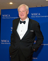 "MSNBC ""Hardball"" host Chris Matthews arrives for the 2017 White House Correspondents Association Annual Dinner at the Washington Hilton Hotel in Washington, DC, USA, on Saturday April 29, 2017. Photo by Ron Sachs/CNP/ABACAPRESS.COM"