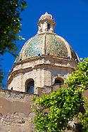 Dome of the San Lorenzo cathedral, Trapani, Sicily .<br /> <br /> Visit our SICILY PHOTO COLLECTIONS for more   photos  to download or buy as prints https://funkystock.photoshelter.com/gallery-collection/2b-Pictures-Images-of-Sicily-Photos-of-Sicilian-Historic-Landmark-Sites/C0000qAkj8TXCzro<br /> If you prefer to buy from our ALAMY PHOTO LIBRARY  Collection visit : https://www.alamy.com/portfolio/paul-williams-funkystock/trapanimaslalasaltpans.html