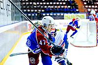 Ishockey , 19. Januar 2014, GET-Liga ,<br /> Vålerenga Hockey - Sparta Warriors<br /> Dion Knelsen - Sparta <br /> Alexander Bonsaksen - VIF<br /> Foto: Sjur Stølen , Digitalsport