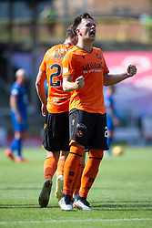 Inverness Caledonian Thistle's Charlie Trafford celebrates after scoring their third goal for his hat-trick. Dundee United 4 v 1 Inverness Caledonian Thistle, first Scottish Championship game of season 2019-2020, played 3/8/2019 at Tannadice Park, Dundee.