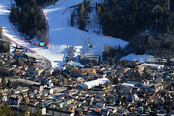 31.01.2013, Schladming, AUT, FIS Weltmeisterschaften Ski Alpin, Schladming 2013, Vorberichte, im Bild das Planai-Zielstadion mit Umgebung am 31.01.2013 // Racehills on the Planai, finish area and parts of the town of Schladming on 2013/01/31, preview to the FIS Alpine World Ski Championships 2013 at Schladming, Austria on 2013/01/31. EXPA Pictures © 2013, PhotoCredit: EXPA/ Martin Huber