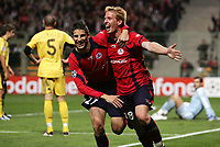 Fotball<br /> Frankrike<br /> Foto: Dppi/Digitalsport<br /> NORWAY ONLY<br /> <br /> FOOTBALL - CHAMPIONS LEAGUE 2006/2007 - GROUP H - LILLE OSC v AEK ATHENS / ATEN - 17/10/2006<br /> <br /> JOY KEVIN MIRALLAS / MATTHIEU ROBAIL (LIL) AFTER THE ROBAIL'S GOAL
