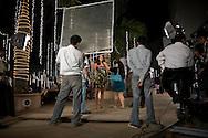 Inspelning av Bollywood-filmen Dulha Mil Gaya - Found a Groom. .Skåderspelerskan på bilden syns Sushmita Sen. Känd skådis i Bollywood och Miss Universe 1994...COPYRIGHT 2008 CHRISTINA SJÖGREN.ALL RIGHTS RESERVED...