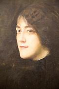 'Mrs Jacob Bratland' circa 1890 oil painting on canvas by Hans Heyerdahl 1857-1913, Kode 3 art gallery Bergen, Norway