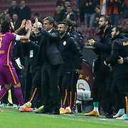 Galatasaray's Selcuk Inan (L) celebrate his goal with team mate during their Ziraat Turkey CUP soccer match Galatasaray between Eskisehirspor at the AliSamiYen TT Arena at Seyrantepe in Istanbul Turkey on Wednesday, 03 December 2014. Photo by Kurtulus YILMAZ/TURKPIX