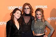 100% NL Awards 2018 in Panama, Amsterdam.<br /> <br /> Op de foto:  Krystl, Elske DeWall, Rachèl Louise