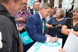 © Licensed to London News Pictures. 22/05/2019.<br /> Dartford,UK. Brexit Party leader Nigel Farage in Dartford, Kent for a walkabout today on the eve of the European elections tomorrow.Photo credit: Grant Falvey/LNP