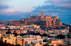 MALTA GOZO VICTORIA JUL00 - View on Victoria's Citadella during sunrise.. . jre/Photo by Jiri Rezac. . © Jiri Rezac 2000. . Tel:   +44 (0) 7050 110 417. Email: info@jirirezac.com. Web:   www.jirirezac.com