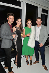 Left to right, EDDIE HAUXWELL, FIONA HOLMES, ZOE ROSIER and JACK BINGHAM at the London premier of Being AP held at Altitude 360, Millbank Tower, 30 Millbank, London on 23rd November 2015.