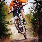 Jason Porter rides on Galbraith Mountain near Bellingham Washington.