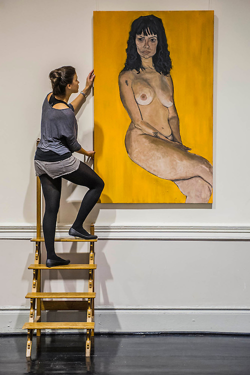 The Naked and the Nude - The first solo show in London by Venezuelan painter, Rodolfo Villaplana.  Highlights include Ratzinger Revisited, Oil on Canvas, 300x170cm, £25,000. Supported by the Museum of Contemporary Art, the selling exhibition will take place at the 20th Century Theatre in Notting Hill, London, during Frieze Week from 16 - 19 October 2014. The young painter finished his MA studies at the Chelsea College of Art in 2013 and 'has gone from strength to strength since'. He has been endorsed by the Young Masters 2013 panel and his debut solo show 'Anarchivolto' ran in Venice, throughout the Venice Architecture Biennale in Sant'Erasmo.