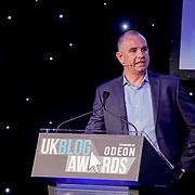 Westminster, UK. 20th Apr, 2017. Speaker Peter Waugh - Head of Digital & CRM ODEON Cinemas at The annually National UK Blog Awards at Park Plaza Westminster Bridge, London. by See Li