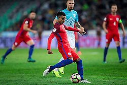 Jesse Lingard of England vs Jasmin Kurtic of Slovenia during football match between National teams of Slovenia and England in Round #3 of FIFA World Cup Russia 2018 Qualifier Group F, on October 11, 2016 in SRC Stozice, Ljubljana, Slovenia. Photo by Vid Ponikvar / Sportida