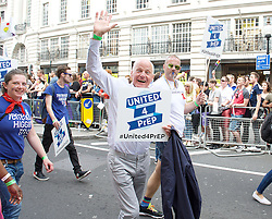 Pride London <br /> setting up before the Parade and during the Parade <br /> London, Great Britain <br /> 25th June 2016 <br /> <br /> <br /> Michael Cashman <br /> <br /> Photograph by Elliott Franks <br /> Image licensed to Elliott Franks Photography Services