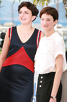 Director Alice Rohrwacher and actress Alba Rohrwacher at the photo call for the film The Wonders (Le Meraviglie) at the 67th Cannes Film Festival, Sunday 18th May 2014, Cannes, France.