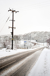 Nether Lane Ecclesfield Sheffield and what would normally be a busy route to Junction 35 of the M1 Motorway  is left deserted due to the most widespread Snows to hit Britain for 20 years.1st December 2010.Images © Paul David Drabble
