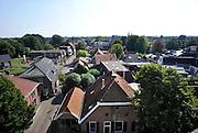 Nederland, Losser, 4-9-2012Het dorp,stadje, Losser, gemeente dinkelland, in Twente, twenthe. Het centrum van het dorp bij het raadhuisplein vanuit de Martinustoren.Foto: Flip Franssen