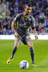 Riyad Mahrez (FRA) of Leicester City in action - Photo mandatory by-line: Rogan Thomson/JMP - 07966 386802 - 14/04/2014 - SPORT - FOOTBALL - Madejski Stadium, Reading - Reading v Leicester City - Sky Bet Football League Championship.